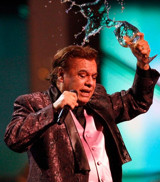 Mexican singer Juan Gabriel performs at the 10th annual Latin Grammy awards in Las Vegas, Nevada