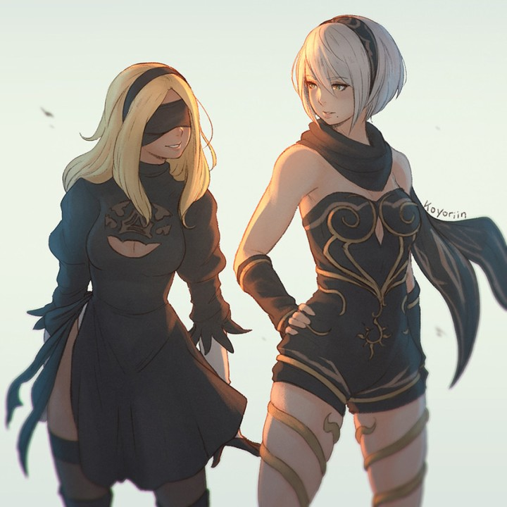 __kitten_and_yorha_no_2_type_b_gravity_daze_nier_series_and_nier_automata_drawn_by_koyorin__sample-f4a911eae15122e523f615711fba9ed8