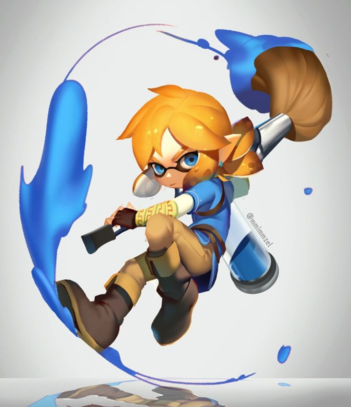 __inkling_and_link_splatoon_splatoon_2_the_legend_of_zelda_and_the_legend_of_zelda_breath_of_the_wild_drawn_by_mimme_haenakk7__8c627d09da96e563de2a681faf0830e0