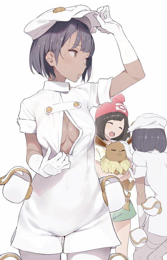 __aether_foundation_employee_eevee_and_mizuki_pokemon_pokemon_game_and_pokemon_sm_drawn_by_shinjiro__38f825dff1312dbd472b9760440e2298